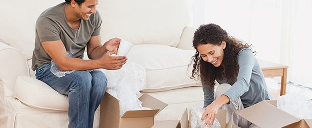 Couple getting ready to move in Toronto